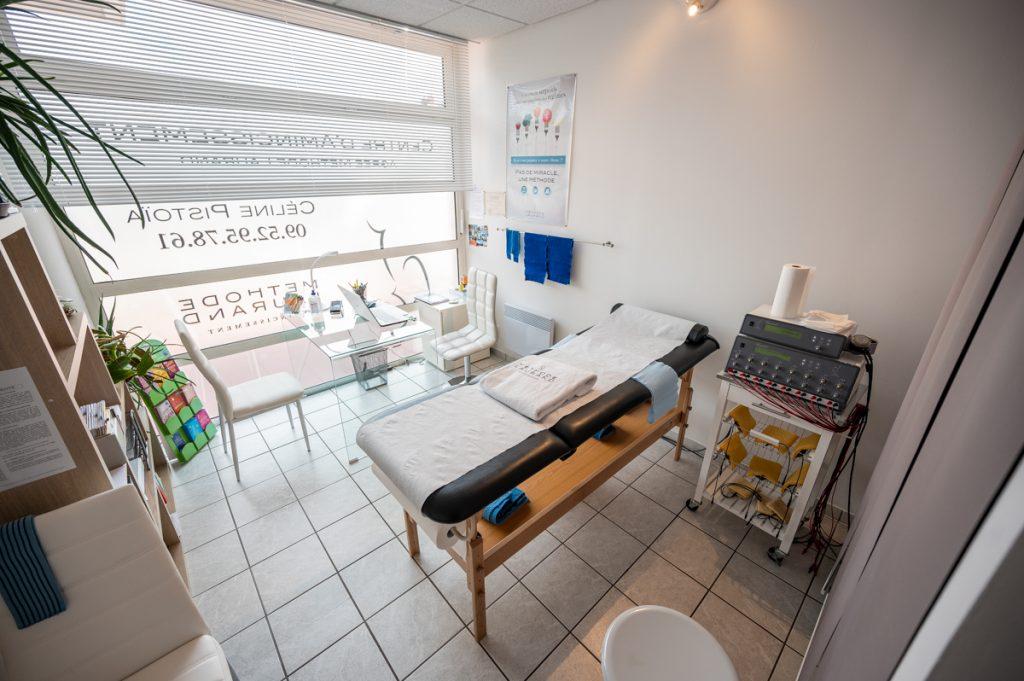 Salle de soins amincissants au centre Méthode Laurand de Montceau Les Mines